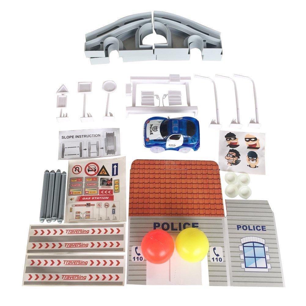 Policía Juegos Coches De Construccion Pista Electrico Juguete 31lJFKcT