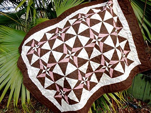 Handmade Lap Quilt, Picnic Blanket, Sofa Throw, Geometric Patchwork Block Quilt, Baby Floor Mat, Quilted Throw, Wheelchair Blanket
