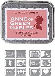 Bookfriends Multi-Purpose Bookmarks Book Line Marker Paper Clip Anne of Green Gables Set of 12