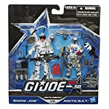GI Joe Real American Hero, 50Th Anniversary Action Figure Set, Arctic Ambush [Snow Job Vs. Arctic B.A.T], 3.75 Inches