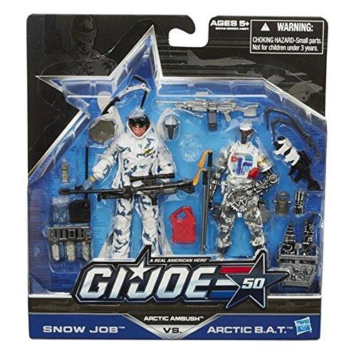 Hasbro G.I. Joe, 50th Anniversary Action Figure Set, Arctic Ambush [Snow Job vs. Arctic BAT], 3.75 -