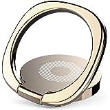Baseus スマホ ホールドリング 360度回転 指1本で保持・落下防止 3mm極薄 携帯リング スタンド マグネット車載ホルダー対応(ゴールド)