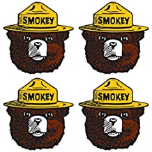 "Smokey the Bear Firefighting Wildfire Sticker, Vinyl Decals - UV Protected & Waterproof - 4"" x 4"" pack of 4"