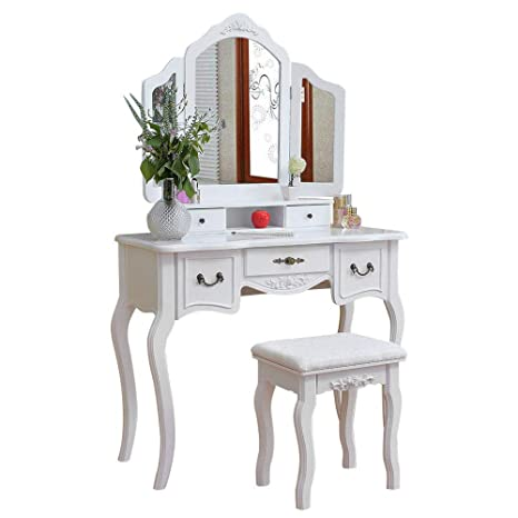 Amazon.com: Bedroom Furniture Mirrored Concise Graceful ...