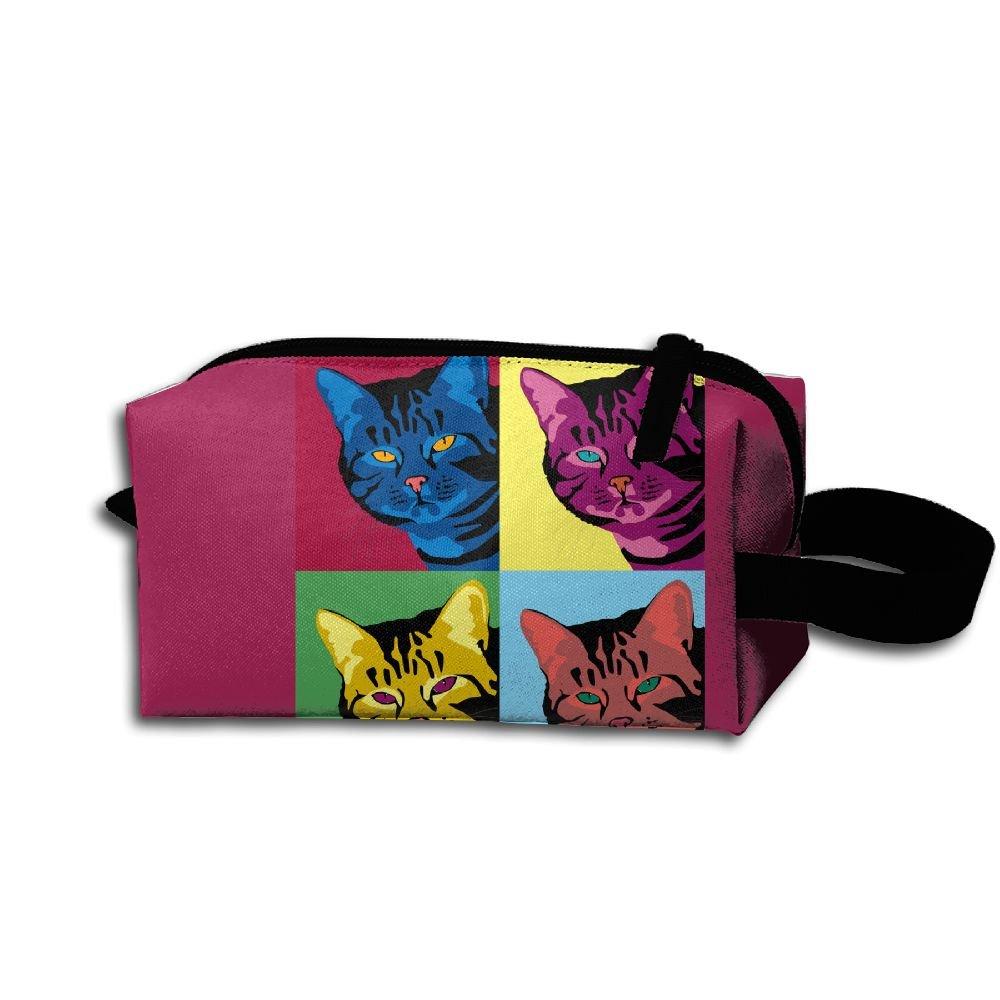 Makeup Cosmetic Bag Animal Portraits Zip Travel Portable Storage Pouch For Men Women