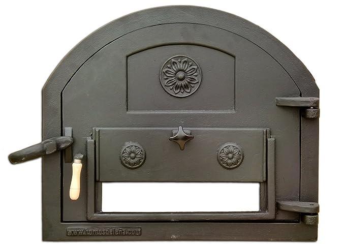 Puerta de fundición para Horno de leña (Peso: 22 Kg): Amazon.es ...