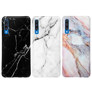 MUSESHOP para Samsung Galaxy A50 Funda Mármol, Carcasa Silicona TPU Flexible Suave Ultra Delgado Mate Case de IMD Marble para Samsung A50 - [3 ...
