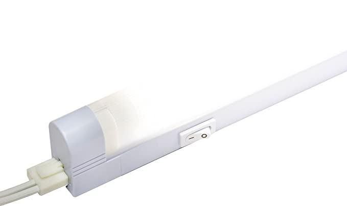Amazon com ge slim line 23 inch fluorescent under cabinet light fixture plug in linkable warm white plastic housing slim design 5 foot cord