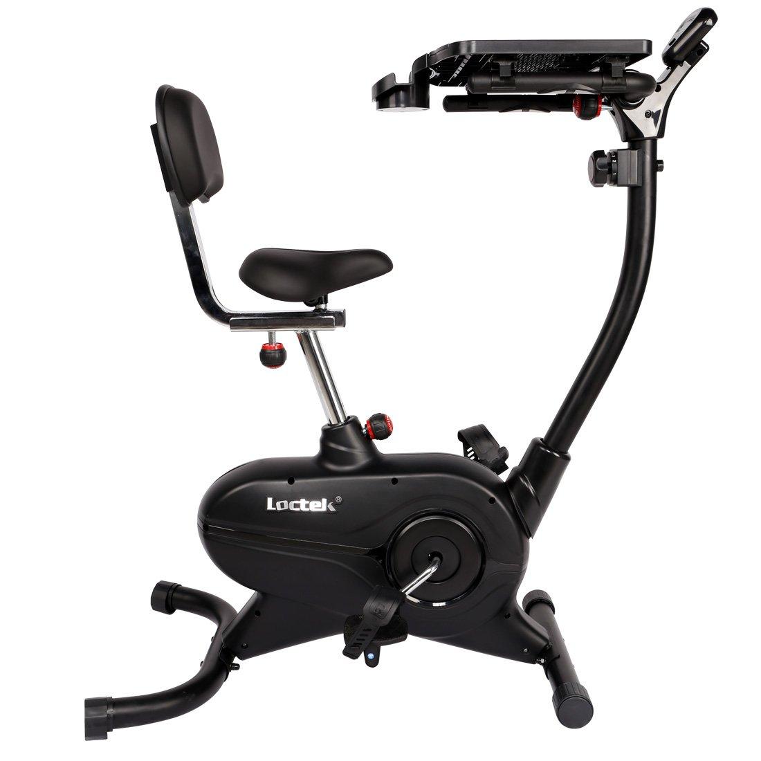 amazoncom loctek uf4m home office upright stationary desk exercise bike laptop cycling workstation sports u0026 outdoors