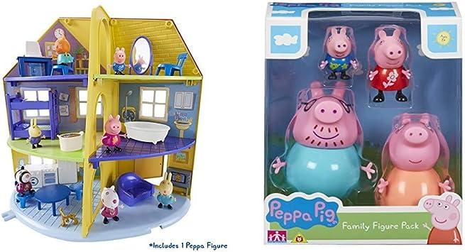 Peppa Pig Set De Jeu 06384 De Maison De Famille De Peppa 06666 Family Lot De Figurines Amazon Fr Jeux Et Jouets