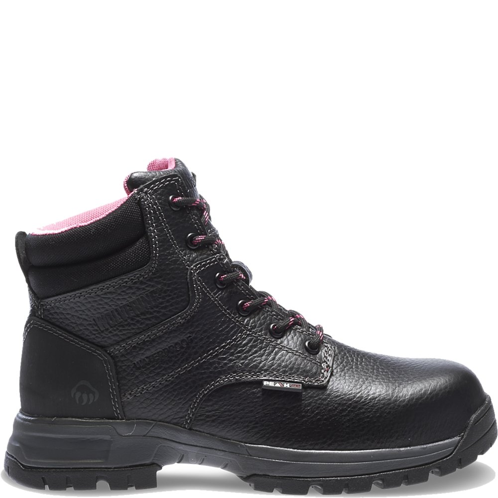 Wolverine Women's Piper Comp Safety Toe Boot,Black,8.5 M US
