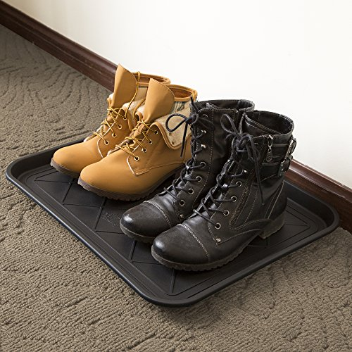 Stalwart 75-ST6013 ECO Friendly Utility Boot Tray Mat, 20'' x 15''/Small, Black by Stalwart (Image #6)