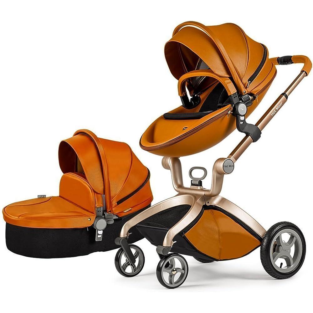 Ob farbenfroh oder schlicht - Kombikinderwagen (z.B. von Hot Mom) stehen bei Eltern hoch im Kurs.