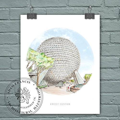epcot-center-spaceship-earth-art-prints-high-quality-limited-edition-fine-art-and-photographic-print