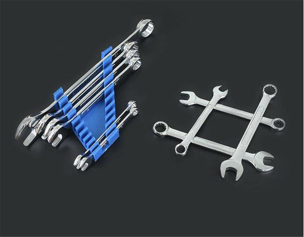10 piezas Juego de llaves combinadas Llave de trinquete Juego de herramientas de cromo M/étrica de 10 piezas