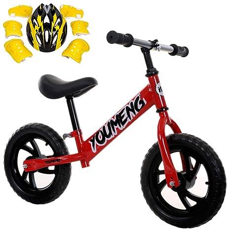 GSDZN - Bicicleta Sin Pedales para Niños☆ Ligero ☆ con Casco ☆ EVA Rueda/