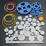 UCTOP 80Pcs Plastic DIY Robot Gear Kit Gearbox Motor Gear Set For DIY Car Robot