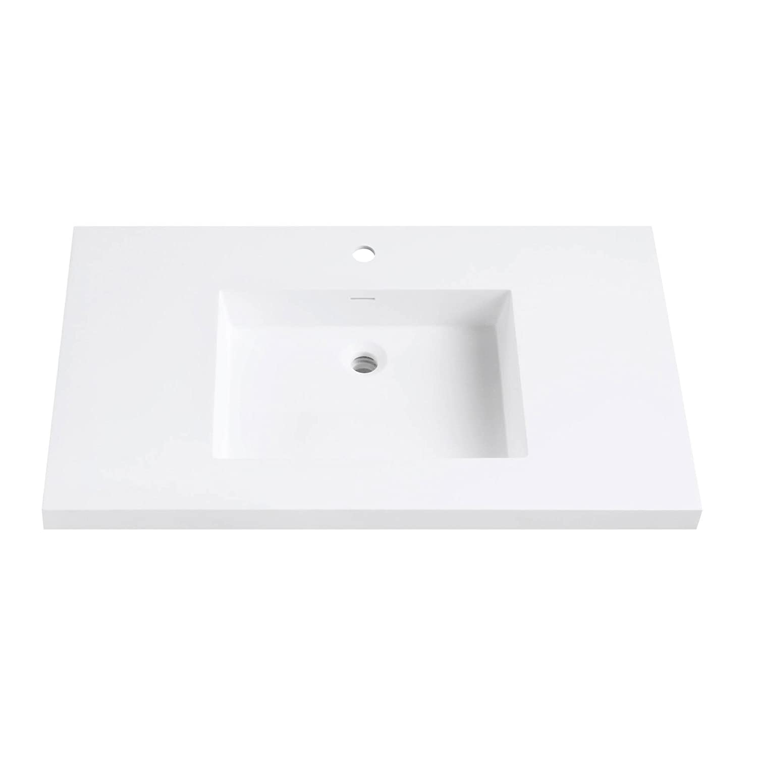 Versastone 37 In Solid Surface Vanity Top With Integrated 22 In