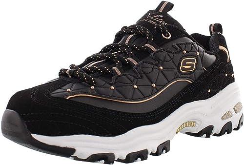 D'Lites Sneaker, Black: Skechers