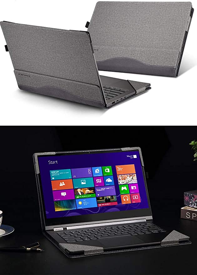 Lenovo Yoga C930 / 920/910 / 900 Case, PU Leather Detachable Protective Laptop Cover for Lenovo Yoga 7 Pro/Yoga 6 Pro/Yoga 5 Pro/Yoga 4 Pro 13.9 Inch ...