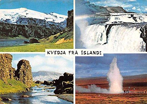 Gullfoss Waterfall - Waterfall Gullfoss, national Park Thingvellir and Thorsmork Reykjavik Iceland Postcard