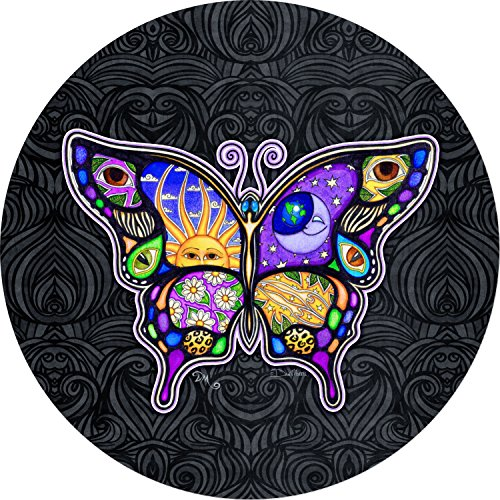 Night & Day Butterfly BLACK Sun Moon Spare Tire Cover for Jeep RV Camper VW Trailer etc(Select popular sizes from drop down menu or contact us-ALL SIZES AVAILABLE) 225/75r16