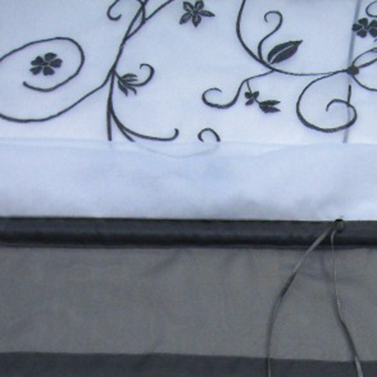 SIMPVALE Rideau de Fen/être Broderie Floral Store Romain D/écoration de la Chambre Salle de Bain Balcon 60/_x/_120/_cm, Violet