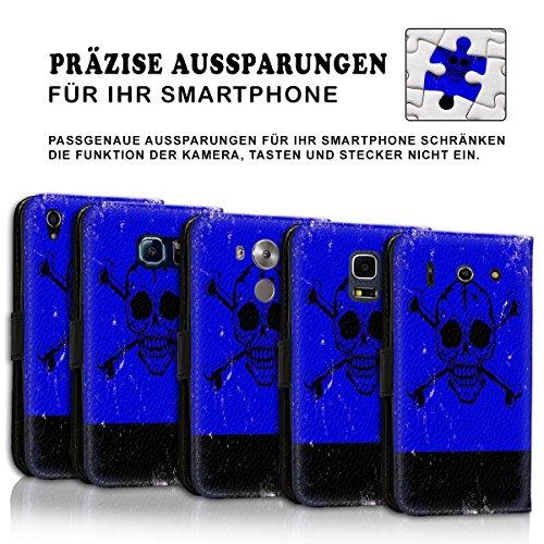 Wallet Book Style Flip Handy Tasche Case Schutz Hülle Schale Motiv Etui für Apple iPhone 5 / 5S - Design Flip MVD283