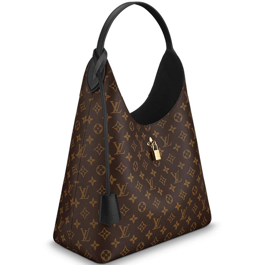 Amazon.com  Louis Vuitton Monogram Canvas Flower Hobo Shoulder Handbag Noir  Article  M43545 Made in France  Shoes 90db5130ead1c