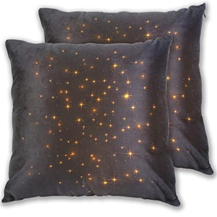 Amazon.com: Beautiful Shiny Glitters Throw Pillow Cover ...