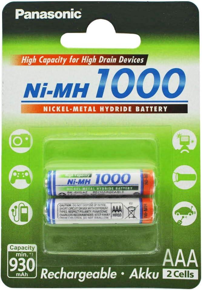 Panasonic HR-4U Micro AAA batería de Ni-MH 1,2 V 1000 mAh 2 22 Blister y batería: Amazon.es: Electrónica