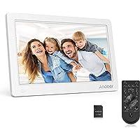 """Andoer Cadres Photo numériques 11.6"""" IPS 1920 * 1080 Cadre numériques en Alliage d'aluminium HD LCD Haute résolution MP4 Horloge Lecteur MP3 Vidéo avec télécommande (Blanc)"""
