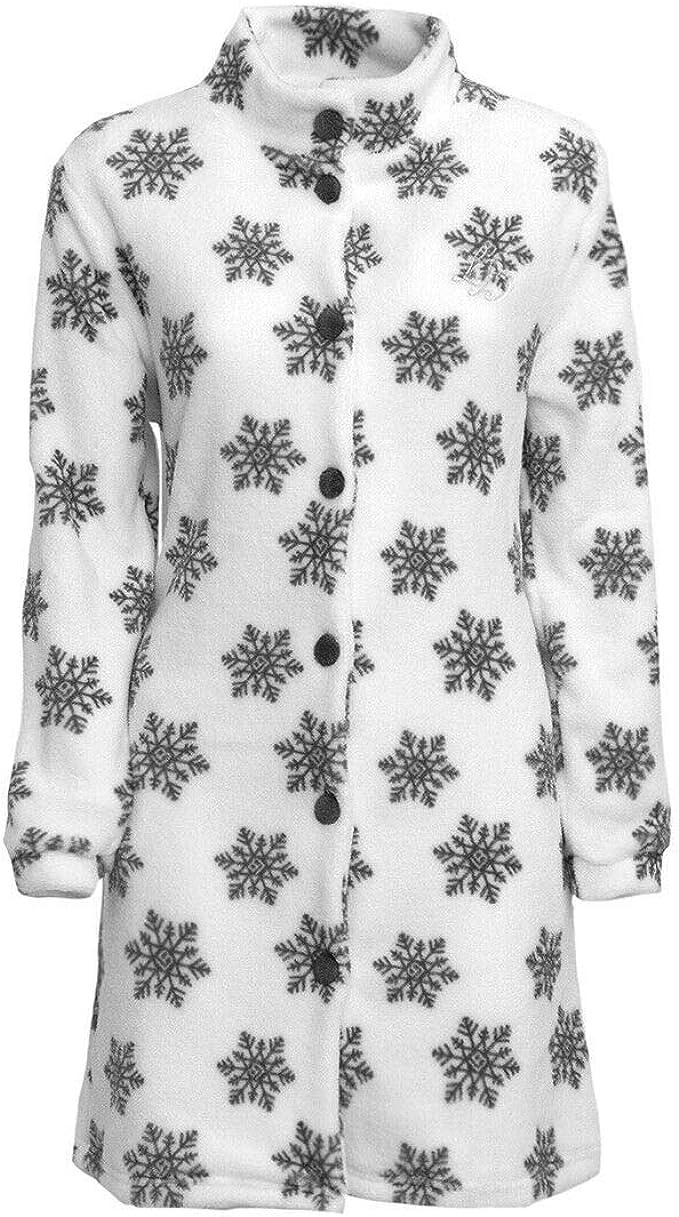 Laura Biagiotti Vestaglia da Donna Fiocchi Neve Pile Coral Invernale V179