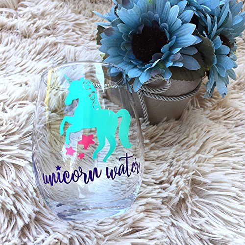 Whimsical Unicorn Water Wine Glass