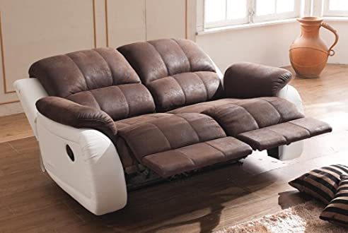 Relax Sofa Couch Fernsehsessel Relaxsessel Fernsehsessel 5129-2-PU ...