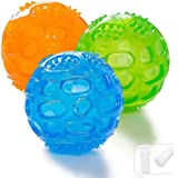 ACEONE Dog Squeaky Ball, Durable Pet Squeak Chew Bouncy Rubber Toy Balls for Small Large Dogs Indestructible Exercise…