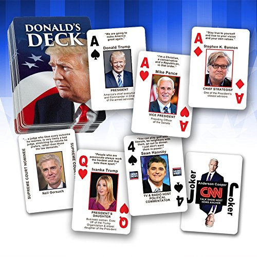 Educational Playing Card (Donald's Deck - Educational Trump Playing Cards Featuring the Real-Life Faces of President Trump's ORIGINAL Cabinet Picks & Closest Colleagues - Names, Photos, Quotes & Info - Only 5000 decks)
