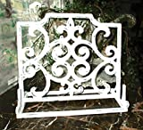 Recipe Book Holder, Picture Frame Holder, Shabby White, Distressed, Cast Iron, Kitchen Tools and Aids, Kitchen Decor, Cooking, Food Recipes Recipe Storage, Kitchen Accessories