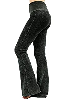 15ebaf4f91784 Zeagoo Women's Plus Size Fold Over Waist Solid Pants Stretch Tights ...