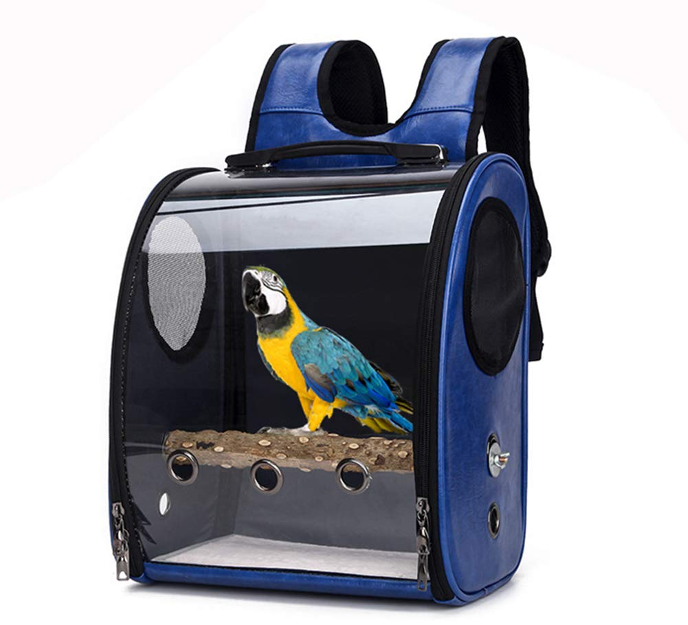 Gatycallaty Pet Bird Cage Play Top Parrot Cockatiel Cockatoo Parakeet Finches Birdcage Carrier Bag Backpack Pack Blue by Gatycallaty