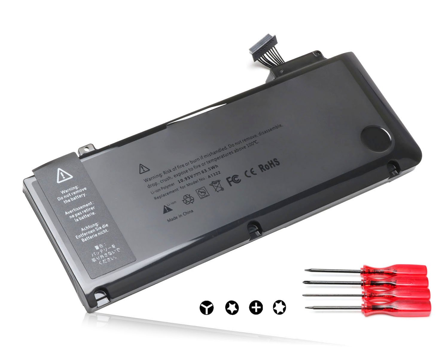 Replacement High Performance Laptop Battery for Apple MacBook Pro 13'' A1322 A1278 (2009 2010 2011 Version),Compatible P/N: 661-5229 661-5557 020-6547-A 020-6765-A