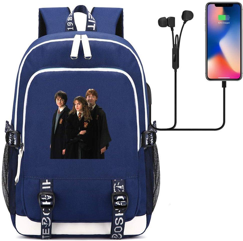 Sac pour /étudiants d/écontract/é pour Ordinateur Portable Harry-P pour Adolescents Unisexe Sac /à Dos Noir , avec Prise Casque Harry p Style-1