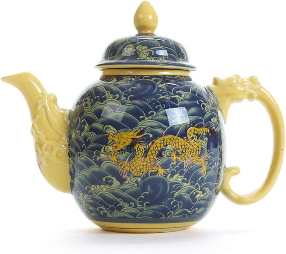 UMITEASETS Jingdezhen Porcelain Chinese Dragon Teapot Porcelain Teapot Chinese Tea Sets