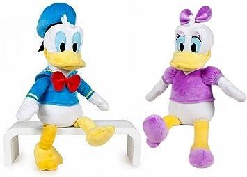 Disney - Pack peluches Daisy y Donald 40cm - Calidad super soft: Amazon.es: Juguetes y juegos