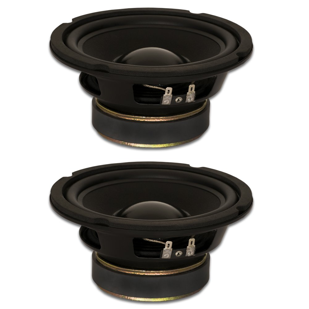 Goldwood Sound, Inc. Stage Subwoofer, Rubber Surround 6.5'' Woofers 170 Watts each 8ohm Replacement 2 Speaker Set (GW-6028-2) by Goldwood Sound, Inc.