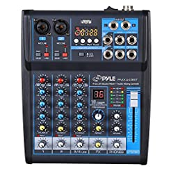 Pyle Professional Audio Mixer Sound Boar...