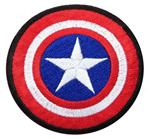 J&C Family Owned Marvel Captain America The First Avenger Shield Embroidered Patch