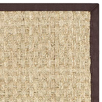 Safavieh Natural Fiber Collection NF114A Basketweave Natural and Beige Seagrass Runner
