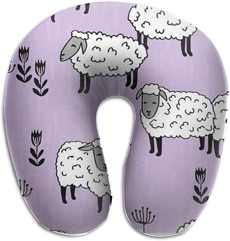 NAN TIAO Purple Sheep Neck Pillow for