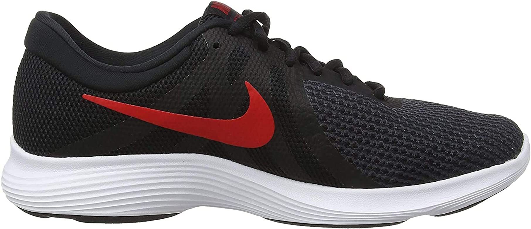 Nike Revolution 4, Zapatillas de Running para Hombre, Multicolor (Black/University Red/Oil Grey/White 061), 38.5 EU: Amazon.es: Zapatos y complementos